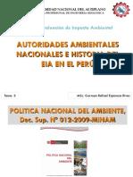 Tema 3 Autoridades Ambientales e Historia en El Peru