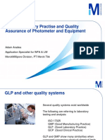 GLP & Analytical Quality Assurance