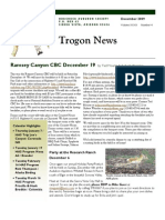 December 2009 Trogon Newsletter Huachuca Audubon Society