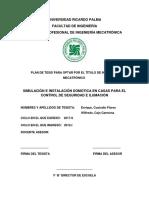 Simulacion e Instalacion Domotica en Casas Para El Control de Seguridad e Ilumacion