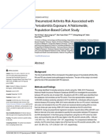 Rheumatoid Arthritis Risk Associated With Periodontitis Exposure- A Nationwide, Population-Based Cohort Study