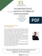 Responsabilidad Social Empresarial Negocios Internacionales 2016 Keyword Principal