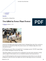 Two Killed in Power Plant Protest