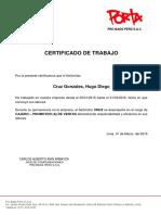 Pro Bags Perú Certificado