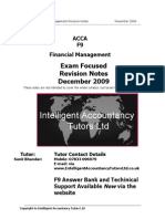25219889 ACCA F9 Revision Notes December 2009