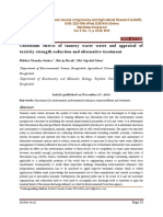 Chromium Effects of Tannery Waste Water and Appraisal of Toxicity Strength Reduction and Alternative Treatment