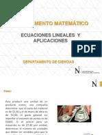 Ecuaciones Lineales y Planteo de Ecuaciones
