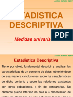 ESTADISTICA DESCRIPTIVA (MEDIDAS)