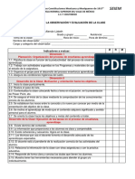 Formato de Visitas de Observación de Clase Opd