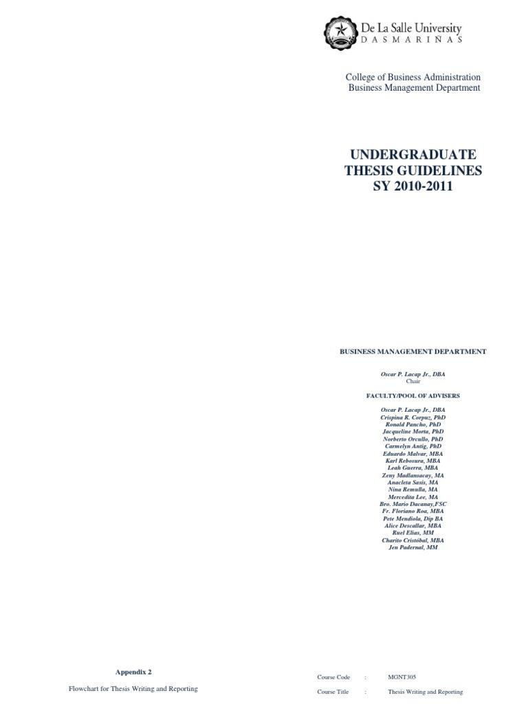 Dlsu thesis