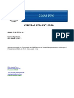 Circular CIMAS Nº 101/10
