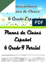 PLAN DE CLASE ESPAÑOL 6 Grado