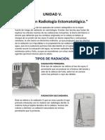 Unidad V Riesgos en Radiologia Estomatológica