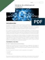 Normas y Estándares de Calidad Para El Desarrollo de Software _ Fernando Arciniega