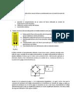 Característica estática de un sensor de fuerza acondicionado