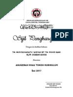 Sijil Penghargaan TOKOH MURID 2017