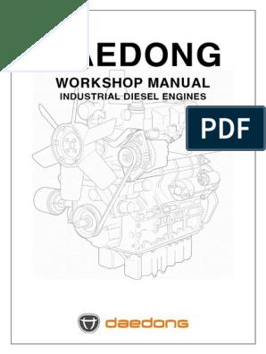 Daedong Workshop Manual Production Release 1 0   Piston