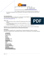 Solar Panel Technical Information and Installations Guidelines