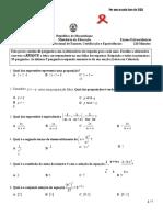 Enunciado Matemática 12ª Cl 2013-Extra