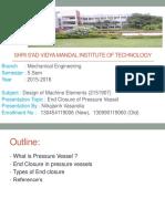 End Closure of Pressure Vessel