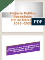 Projecto Politico Pedagogico de Ifp Marrere 2015