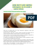 Zjedzte Každý Deň 3 Celé Vajíčka