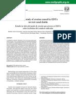 Erosi in Vitro Study of Erosion Caused by EDTA