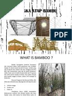 Rangka Atap Bambu