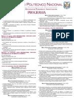 Programa de la Tercera Semana de Crecimiento, Comercio y Desarrollo Económico 2010 ESE IPN
