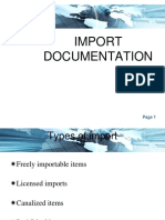 Import documents in trade