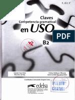 Competencia gramatical en USO B2 - Claves