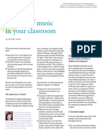 The Role of Music in the Classroom