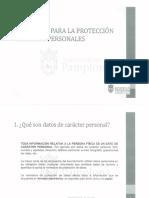 Decálogo protección de datos Ayuntamiento de Pamplona