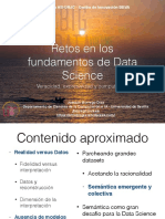 Retos fundacionales en Data Science y Big Data