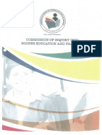 Commission of Inquiry Into Higher Education Report - Executive Summary