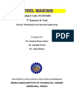 PCMT 4402- Steel Making -7th Sem Metallurgy