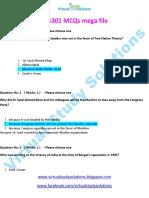 PAK301 Solved MCQs Mega File-Virtual Study Solutions