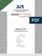 Saville Consulting Price List