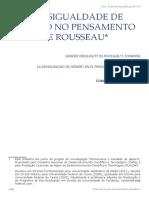 A DESIGUALDADE DE GÊNERO NO PENSAMENTO DE ROUSSEAU*