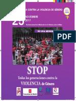 IGUALDAD   Semana contra la violencia de género en Coslada. 25 de noviembre de 2017