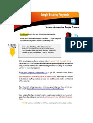 Sample Software Automation Proposal | Automation | Web Service