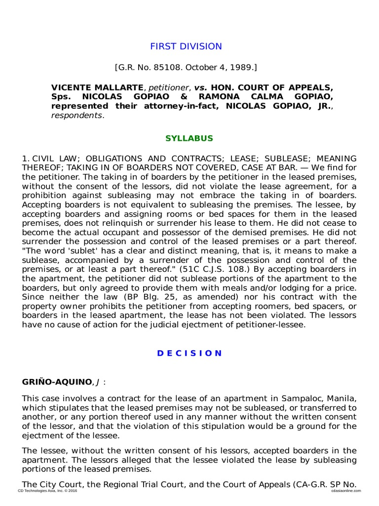 mallarte v court of appeals lease leasehold estate