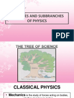 Intro Branches of physics