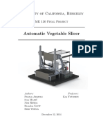 Automated Vegetable Slicer