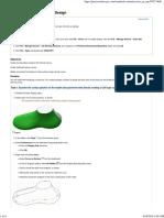 Creating a Shoe Design