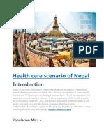 Health Care Scenario of Nepal Hospaccx Healthcare Consultancy