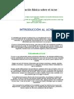 Información Básica Sobre El Acne