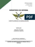 1082 DEF VEH 1082-B Vehículos Terrestres, Clasificación Operativa