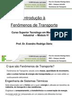 Aula 1 - Introdução à Fenômenos de Transporte (1)
