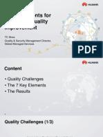 7 Key Elements for Operation Quality Improvement